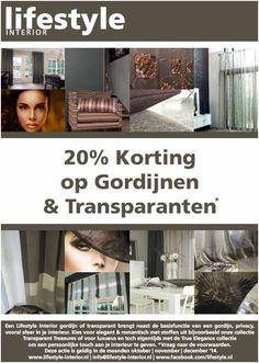 Ook lifestyle-interior.nl viert de woonmaanden. 20% korting op onze gordijn collectie in de maanden oktober-november-december!
