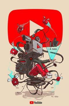 Artist Esoj Luna Illustrated Iconic Brands As If They Were H… – Graffiti World Art And Illustration, Graffiti Art, Dope Cartoon Art, Cartoon Kunst, Arte Robot, Robot Art, Fantasy Character Design, Character Art, Doodle Art