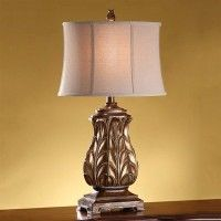 Crestview Collection CVAUP254 Regency Gold Table Lamp