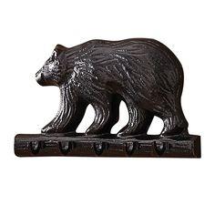 Cast Black Bear Key Hook