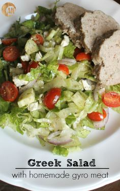 Greek Salad with Homemade Gyro Meat (Paleo, Primal, Gluten-Free)