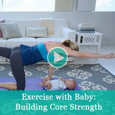 Mom's Guide to Ab Rehab Tummy-tightening ab exercises you can do with Baby.Tummy-tightening ab exercises you can do with Baby. After Baby Workout, Post Baby Workout, Post Pregnancy Workout, Mommy Workout, Pregnancy Fitness, Body After Baby, Post Baby Body, Clean 9, Fitness Workouts