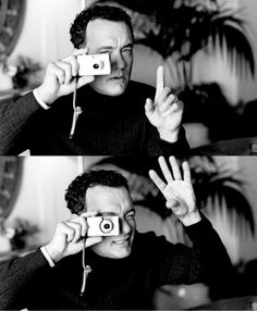 Tom Hanks with a compact digital camera