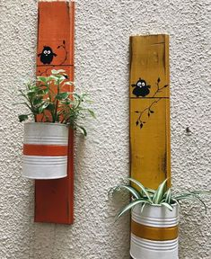 Jardin Aluminum Can Crafts, Tin Can Crafts, Diy Crafts For Gifts, Decor Crafts, Home Crafts, Small Wood Projects, Diy Projects To Try, Garden Crafts, Garden Art