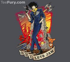 Bounty Hunter Blues T-Shirt $11 Cowboy Bebop tee at TeeFury today only!
