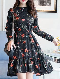 15 beautiful flowery dresses in 2020 that great choice for you page 12 Korean Fashion Dress, Modest Fashion, Hijab Fashion, Fashion Dresses, Fashion Fashion, Spring Fashion, Fashion Women, Fashion Tips, Stylish Dresses