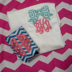 Bow Monogram TShirt by WildflowersnHoney on Etsy, $23.50