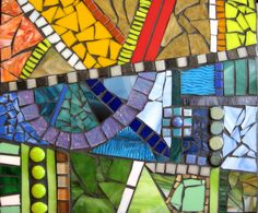 Mixed Media Stained Glass Contemporary Mosaic. Artist: Shawn DuBois