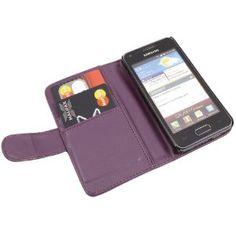iTALKonline PORPORA Esecutivo Portafoglio Custodia Cover Coperchio con Carta di Credito / Porta Biglietti Per Samsung i9070 Galaxy S Advance