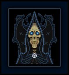 Patreon Only DEATH Cross Stitch Pattern Discworld