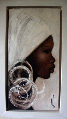 Meet Mo Welch—an impassioned fashion painter inspired by beauty, elegance, shapes, textures, people and the past. Black Art Painting, Black Artwork, Oil Painting On Canvas, Canvas Art, Art Visage, Afrique Art, African Art Paintings, Black Art Pictures, African American Art