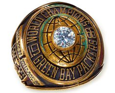 The Championship ring won by the Green Bay Packers following their 35-10 victory over the Kansas City Chiefs
