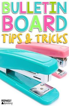 Lots of great bulletin board tips and tricks to make your life easier. I love the tip for cleaning up staples!