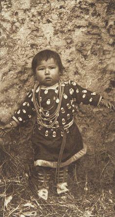 A Baby Apsaroke (The North American Indian, v. IV. Cambridge, MA: The University Press, 1909)