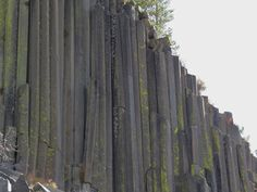 Amazing natural columns-geological wonder near Mammoth Lakes, California