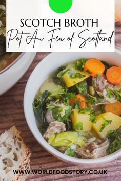 """Scotch Broth is a traditional Scottish dish. It is often referred to as """"Scotland's National Soup"""" or """"Pot Au Feu of Scotland"""".The nickname """"Pot Au Feu of Scotland"""" was given by novelist and feminist Christian Isobel Johnstone. She published Cook and Housewife's Manual in 1856, under the pseudonym Mistress Margaret Dods. Probably she didn't say """"Pot Au Feu of Scotland"""" without reason. Seems like that this dish originated from French cuisine."""