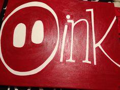 "Razorback ""Oink"" Canvas for Dorm room"