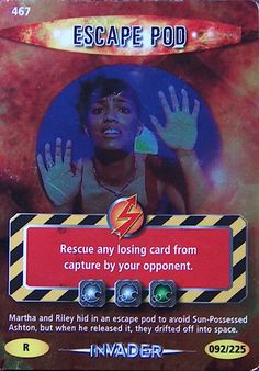 DOCTOR WHO  BATTLES IN TIME TRADING CARD  ESCAPE POD  CARD No. 467  ~~