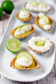 Mini-Key-Lime-Pies-with-Whipped-Cream
