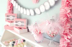 """We are so excited to finally share some photos from our """" Ballerina Bakery """" birthday party with you! We created this party for my twins Ballerina Party, Ballerina Baby Showers, Ballerina Birthday Parties, Pink Birthday, Birthday Ideas, 4th Birthday, Fiesta Baby Shower, Baby Shower Parties, Shower Party"""