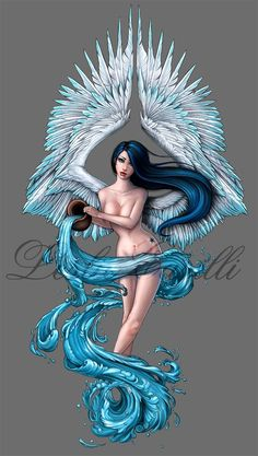 Aquarius Tattoo Design by Enchantress-LeLe on deviantART: