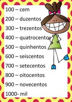 Cartaz dos números EM PDF - Atividades Adriana