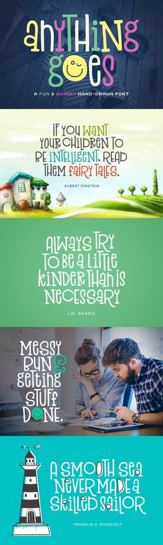 Anything Goes - Anything Goes is a charming font with a quirky, hand-drawn style. It is perfect for logos, ...