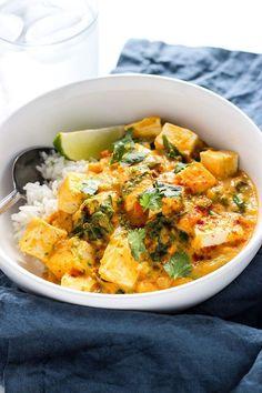 5 recetas con tofu a las que no podrás resistirte - Tofu Bowl Rezepte Healthy Thai Recipes, Tofu Recipes, Healthy Dishes, Pumpkin Recipes, Asian Recipes, Whole Food Recipes, Vegetarian Recipes, Cooking Recipes, Ethnic Recipes