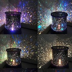Color-changing Star Beauty Starry Sky Projector Night Light (3xAA, Random Color) – USD $ 6.99