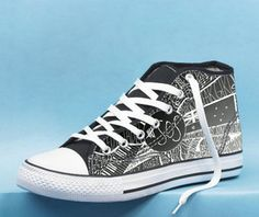 103dd29bf3 5 Seconds of Summer Collage art High Top Canvas Shoes