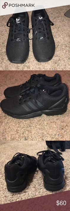 Adidas ZX FLUX sneakers Worn twice Perfect condition They are a kids size 6.5 but i'm a 7.5-8 in womens and they fit perfectly OPEN TO OFFERS adidas Shoes Sneakers