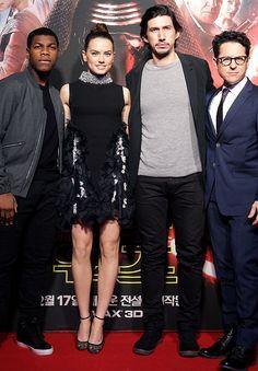 John Boyega, Daisy Ridley, Adam Driver, JJ Abrams - 'Star Wars: The Force Awakens' Fan Event on December 9, 2015 in Seoul, South Korea.