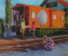 Exploring the Tracks from the Woodstock Vignette by Woodstock Georgia, Large Prints, Main Street, Vignettes, Exploring, Original Paintings, Track, Art, Art Background
