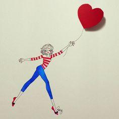 Roxy, Eclipse Of The Heart, Illustration Girl, Art Illustrations, Cute Images, My Little Girl, Heart Art, Cute Cartoon, Cute Drawings