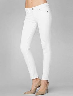 Classic #paigejeans Skyline skinny in white! A #palmbeach staple!