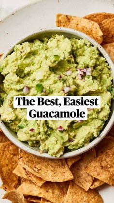 Salsa Guacamole, Guacamole Recipe Easy, Avocado Recipes, Authentic Guacamole Recipe, Avocado Dip, Mexican Food Recipes, New Recipes, Vegetarian Recipes, Cooking Recipes