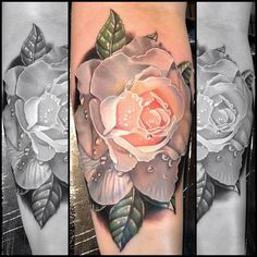 Another gorgeous rose tattoo by Phil Garcia