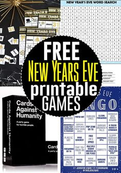 printable New Years Eve party games!FREE printable New Years Eve party games!