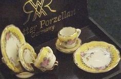 DOLLHOUSE Collector Plate Set 1.416/8 Reutter French Rose Miniature 1:12 gemjane #ReutterPorcelain