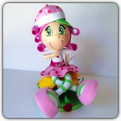 Strawberry Shortcake Fofucha Doll by CrochetNFofuchas on Etsy #StrawberryShortcake #KidsBirthday #Centerpiece
