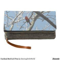 Cardinal Bird In A Tree Clutch