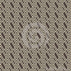 Abstract seamless retro pattern made from rhombus shapes in brown color.