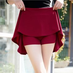 Saias New women high waist skirts anti emptied pleated shorts casual suitable for four seasons, high elasticity A-Line skirt | Price: US $9.41 | http://www.bestali.com/goto/32228138577/10