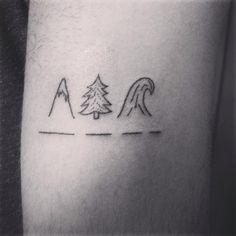 tattoo tatouage dotwork handpoke handpokingtattoo fonteljuice sapin  vague montagne fir moutain