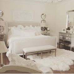 """""""All white everything in @randigarrettdesign 's bedroom. Thank you for the tag!"""""""