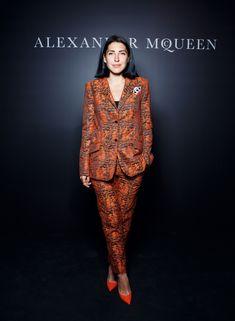 Anna Russka MCQueen Orange suit jacket