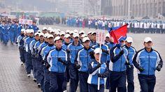 성, 중앙기관 일군들의 집단달리기 진행-《조선의 오늘》