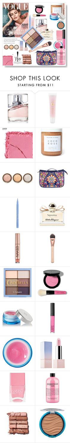 """Pinkblue.."" by gul07 ❤ liked on Polyvore featuring beauty, HUGO, Lancôme, Urban Decay, By Terry, Stila, Salvatore Ferragamo, Bobbi Brown Cosmetics, Givenchy and NARS Cosmetics"