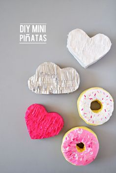 diy-mini-pinatas - recycle old paper/cardstock scraps and add paper mache and tissue paper fringe!