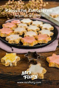 Vegane Zimtsterne glutenfrei backen Mrs Flury  Zimtsterne backen, ohne Ei, ohne Mehl, glutenfrei, glutenfrei backen, vegane Kekse, Weihnachtskekse, gesund backen, gesunde Rezepte, Mrs Flury Zimtsterne  #zimtsterne #glutenfrei #gesunderezepte #eatgoodfood